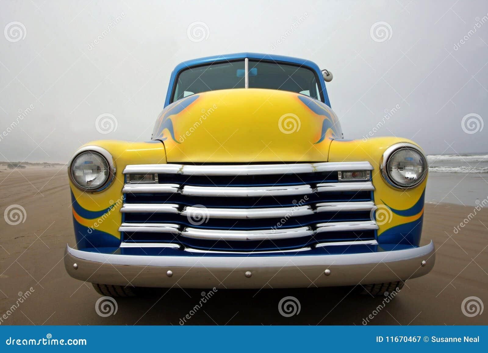 Frente Del Carro 1953 De Chevy Fotografía De Archivo