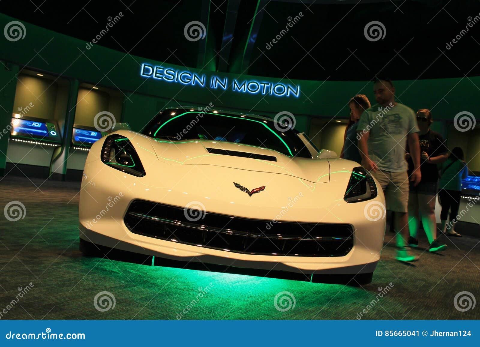 Frente del coche de deportes