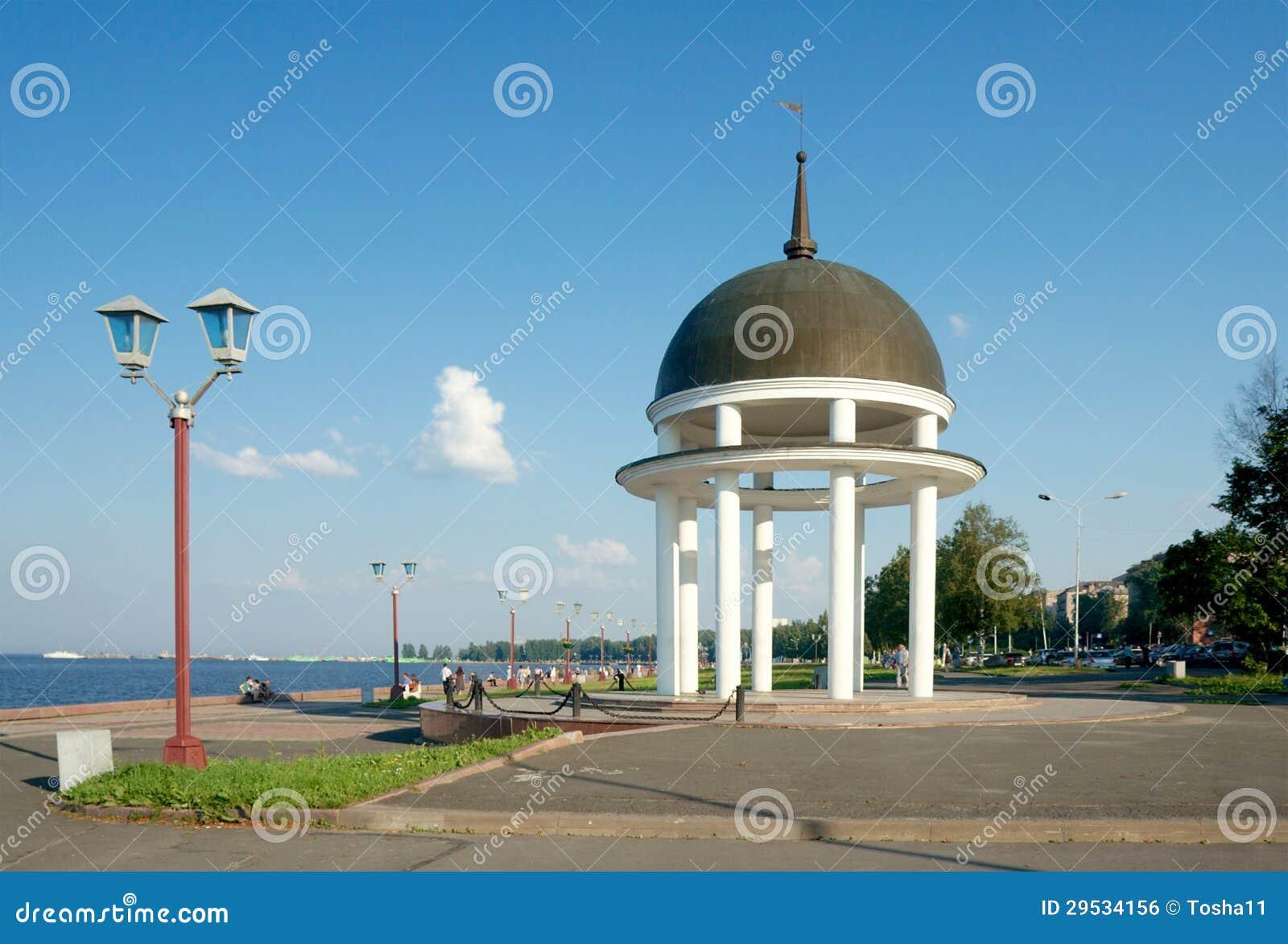 Frente marítima do Lago Onega. Petrozavodsk, Carélia