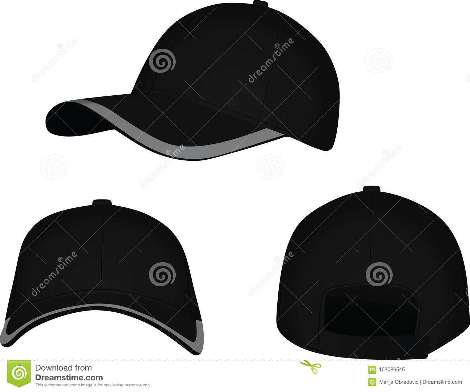 Frente Negro De La Gorra De Béisbol 567997f90f0