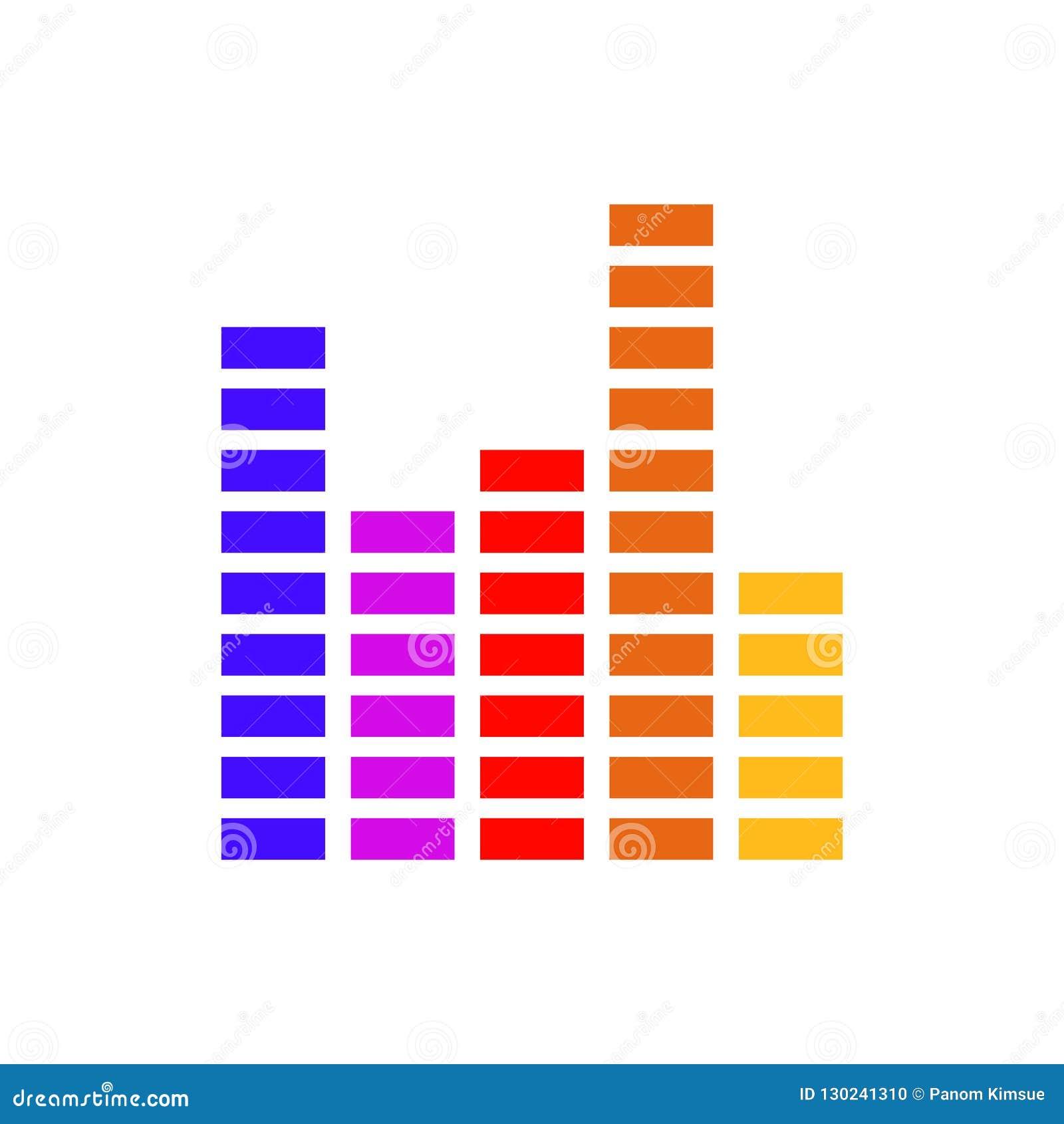 Frequency equalizer vector illustration sound volume wave audio voice bar for your web site design, logo, app, UI.