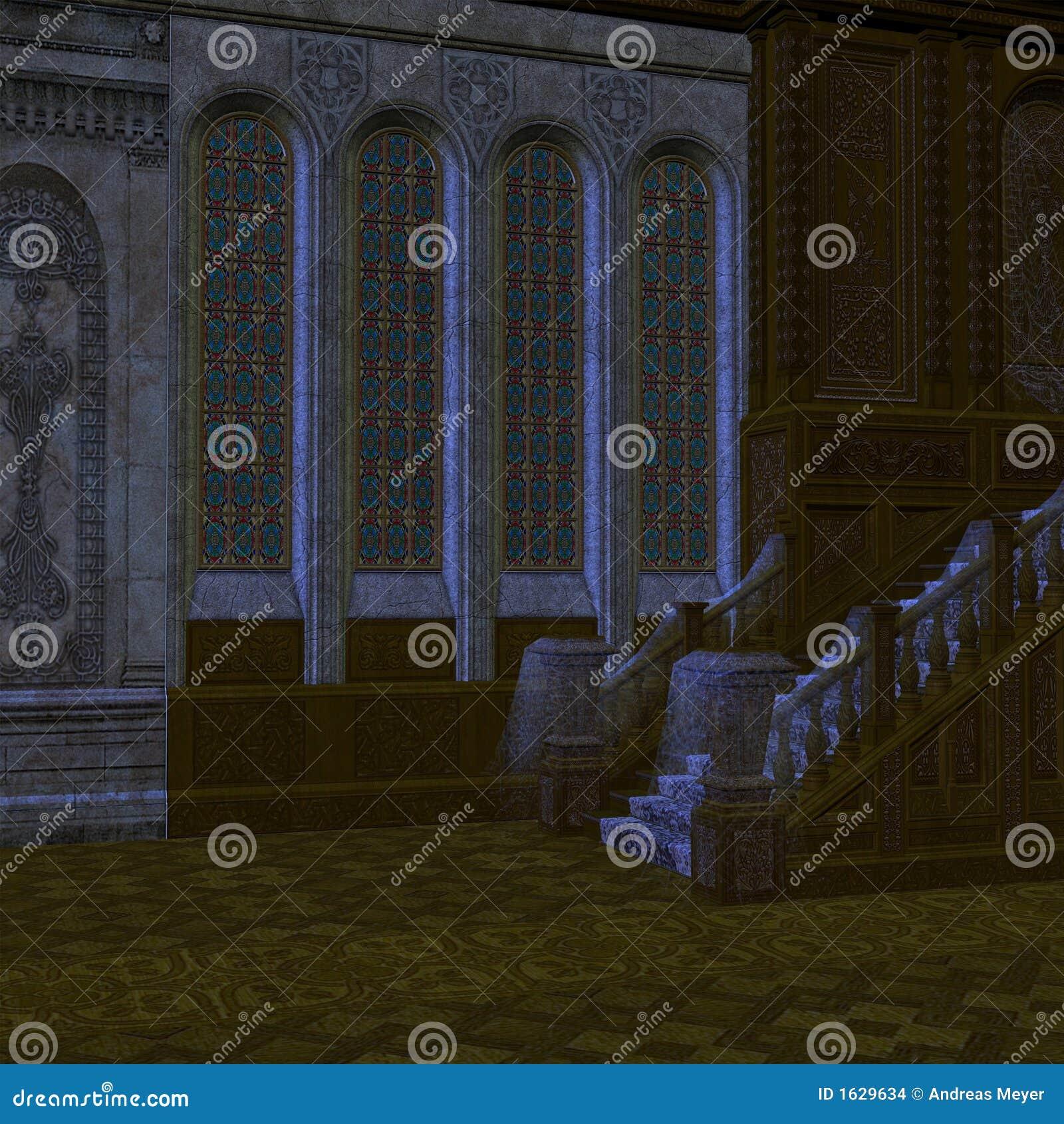 Frequentierte Villa stock abbildung. Illustration von unten - 1629634