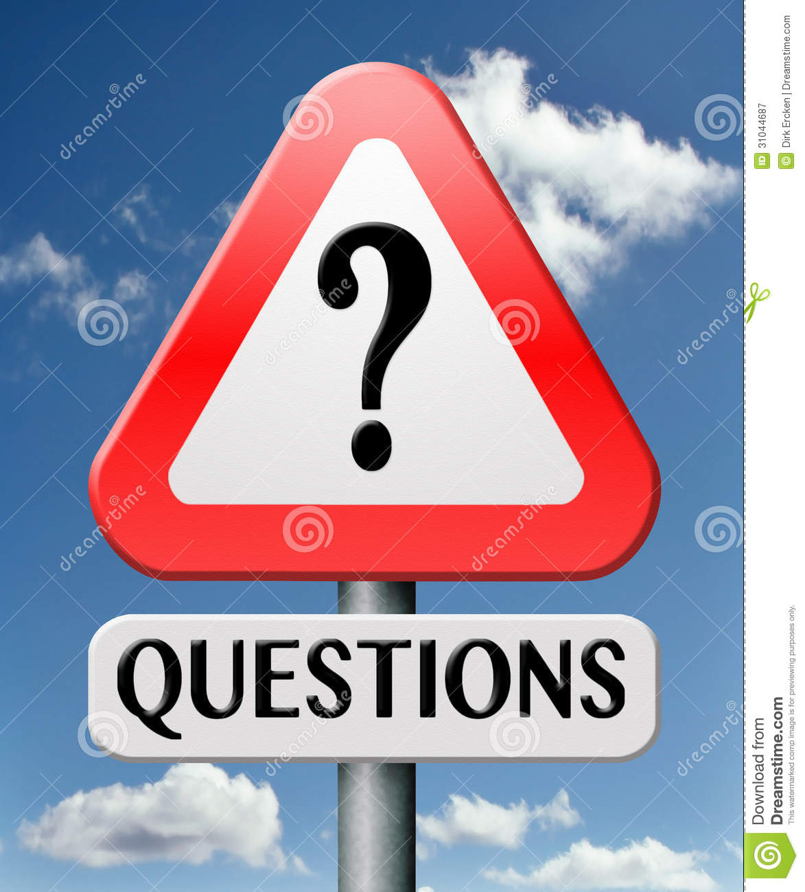 Frequently Asked Question Road Sign Royalty Free Stock