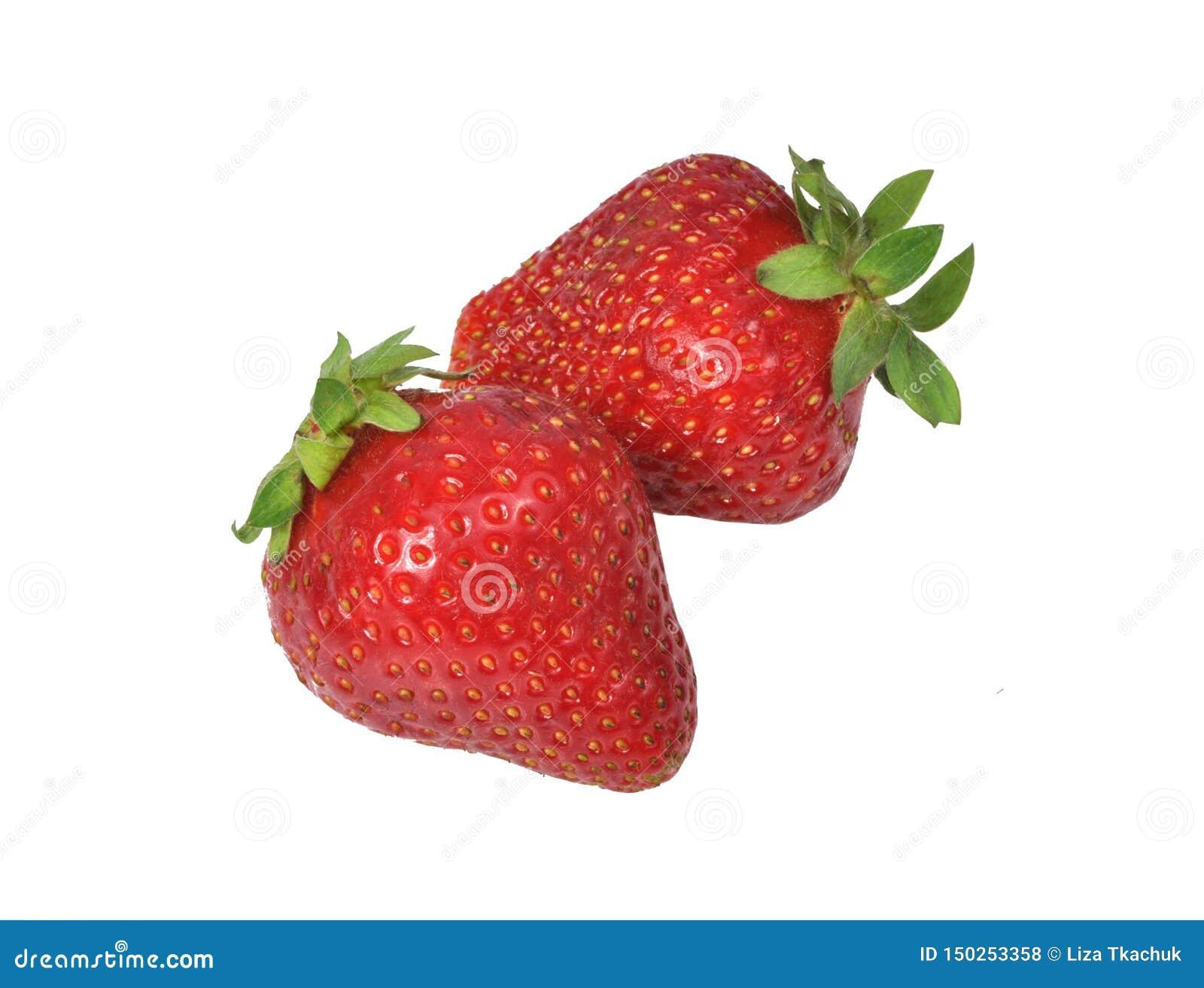 Fresa fresca roja aislada en el blanco