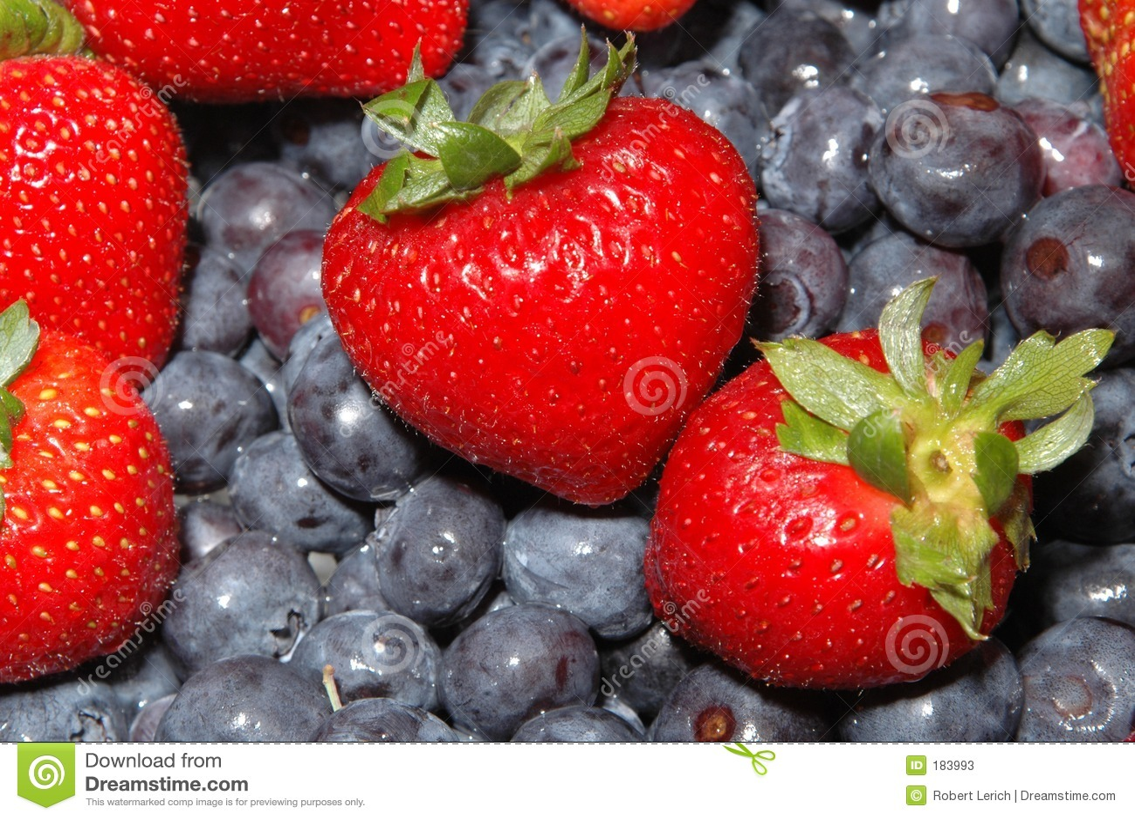 Fresas de los arándanos