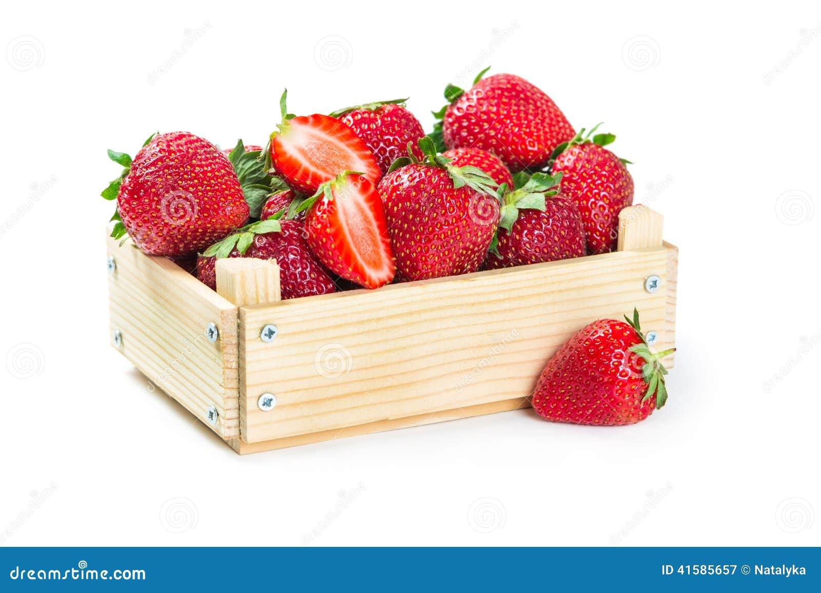 Fresas en caja de madera foto de archivo imagen 41585657 - Fresas para madera ...