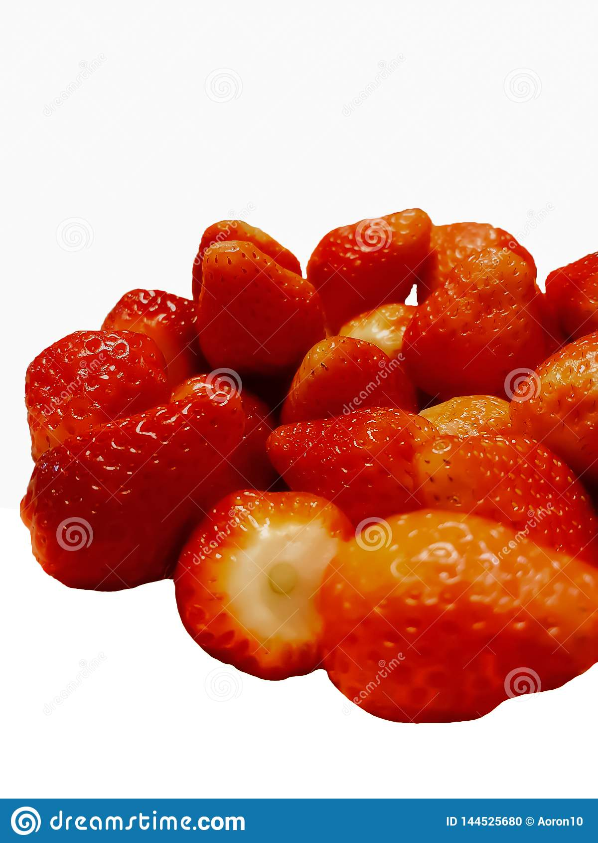 Fresas en un fondo blanco, aislante