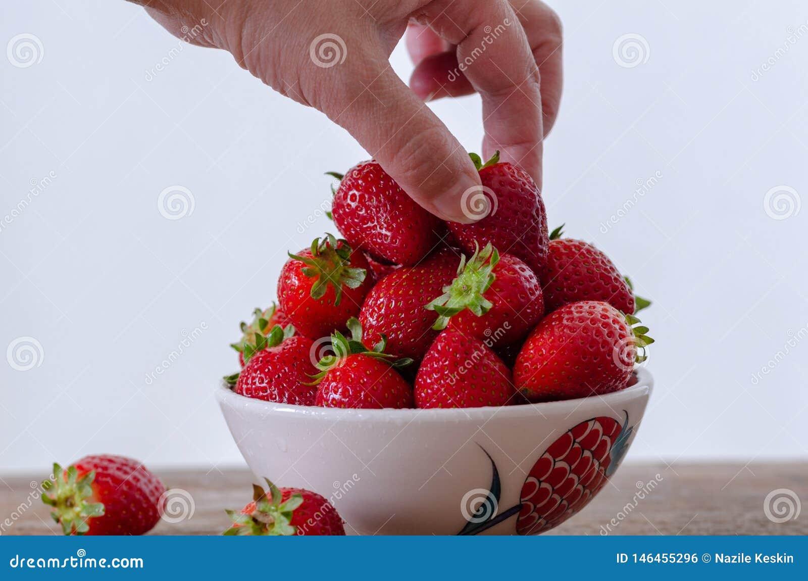 Fresas rojas frescas maduras