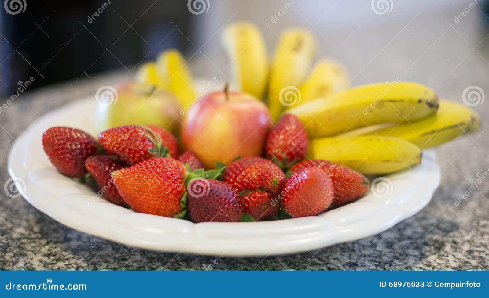 Fresas y plátano