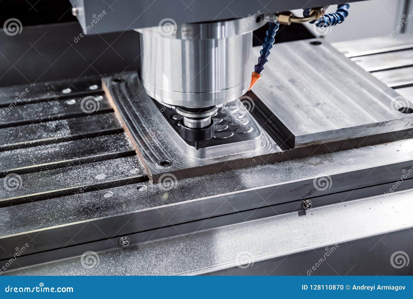 Fresatrice metallurgica di CNC Processin moderno del metallo di taglio