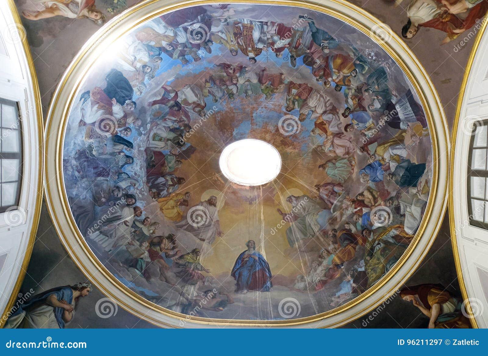 Fresco en el techo de la iglesia de Philip Neri del santo, Complesso di San Firenze en Florencia