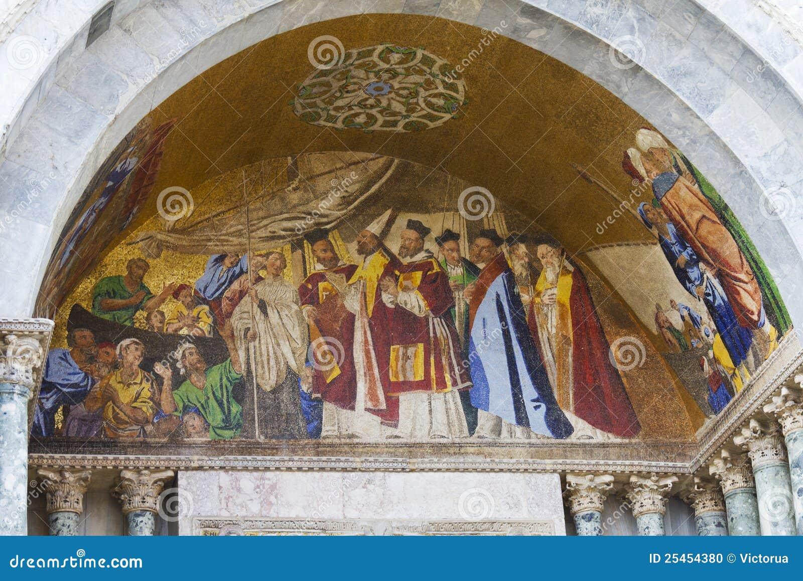 Frescos. Basílica De San Marcos. Venecia, Italia Foto de archivo ...