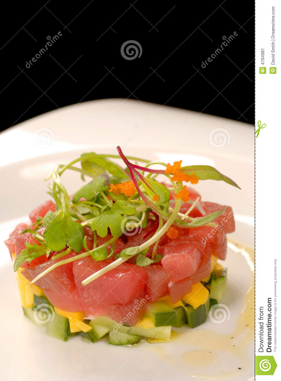 Fresh Asian Tuna And Mango Tartare Stock Image - Image: 4794981