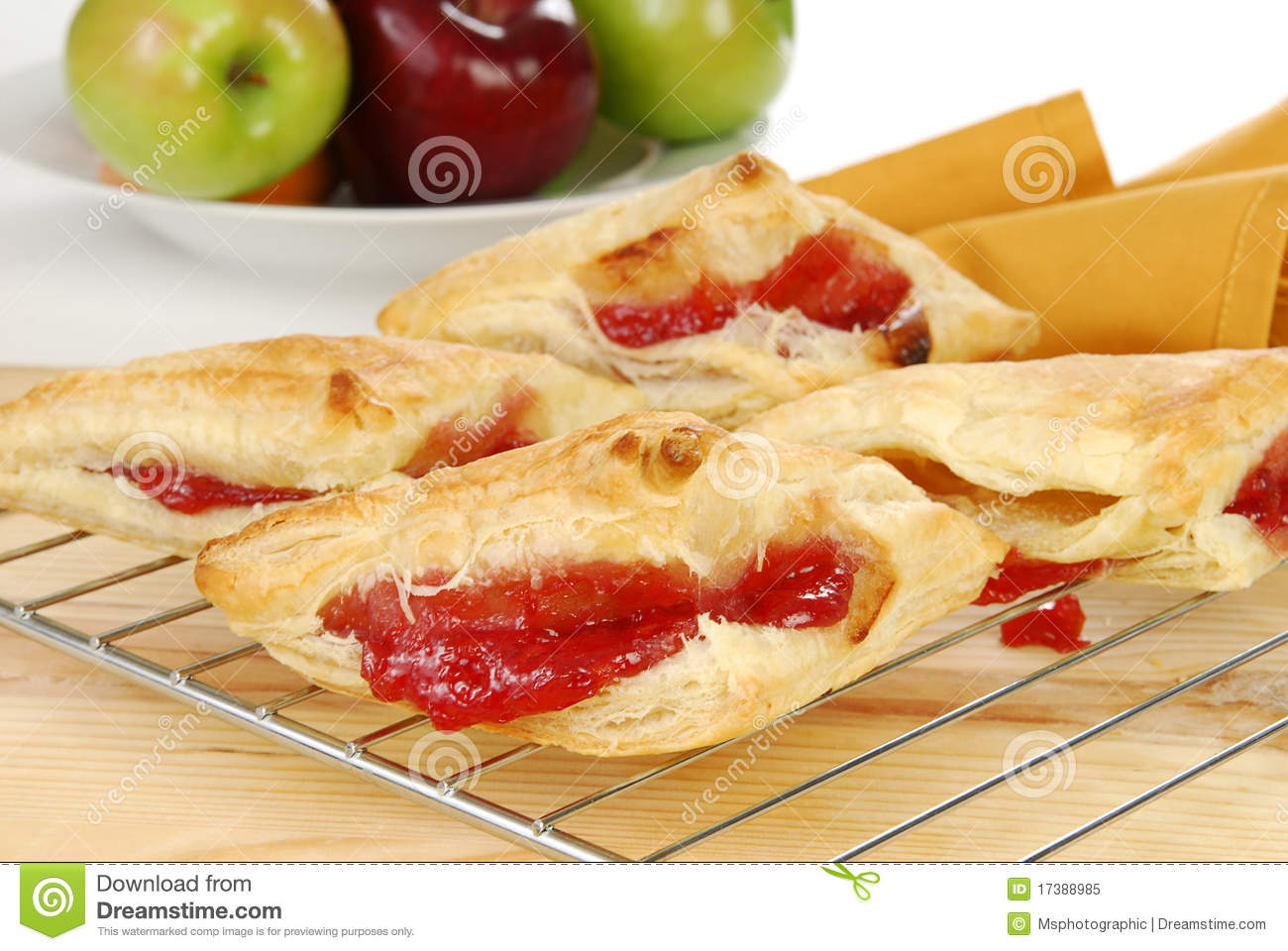 Fresh Baked Cherry Turnovers Royalty Free Stock Photo - Image ...