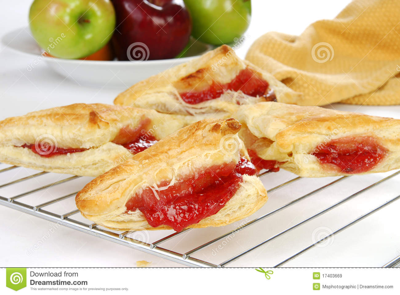 Fresh Baked Cherry Turnovers Royalty Free Stock Images - Image ...