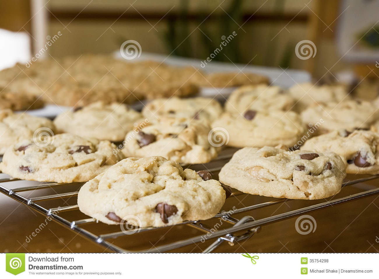 fresh baked cookies royalty free stock photos image