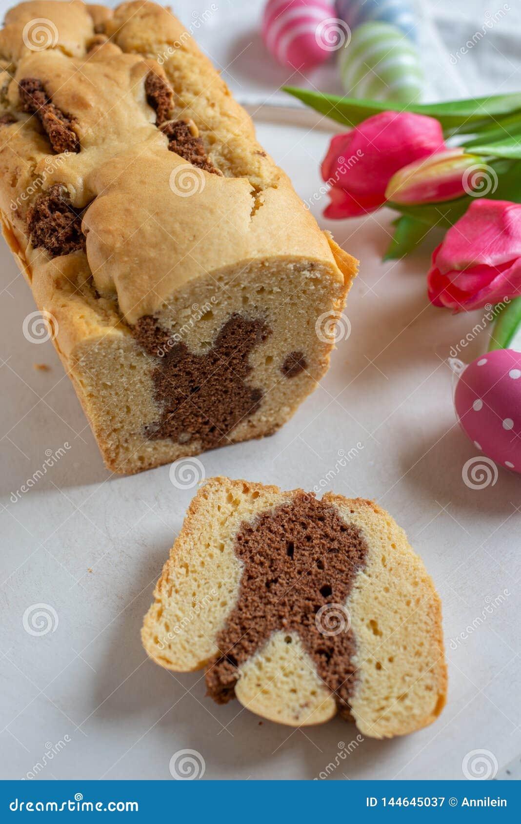 Fresh baked Easter Bunny Cake
