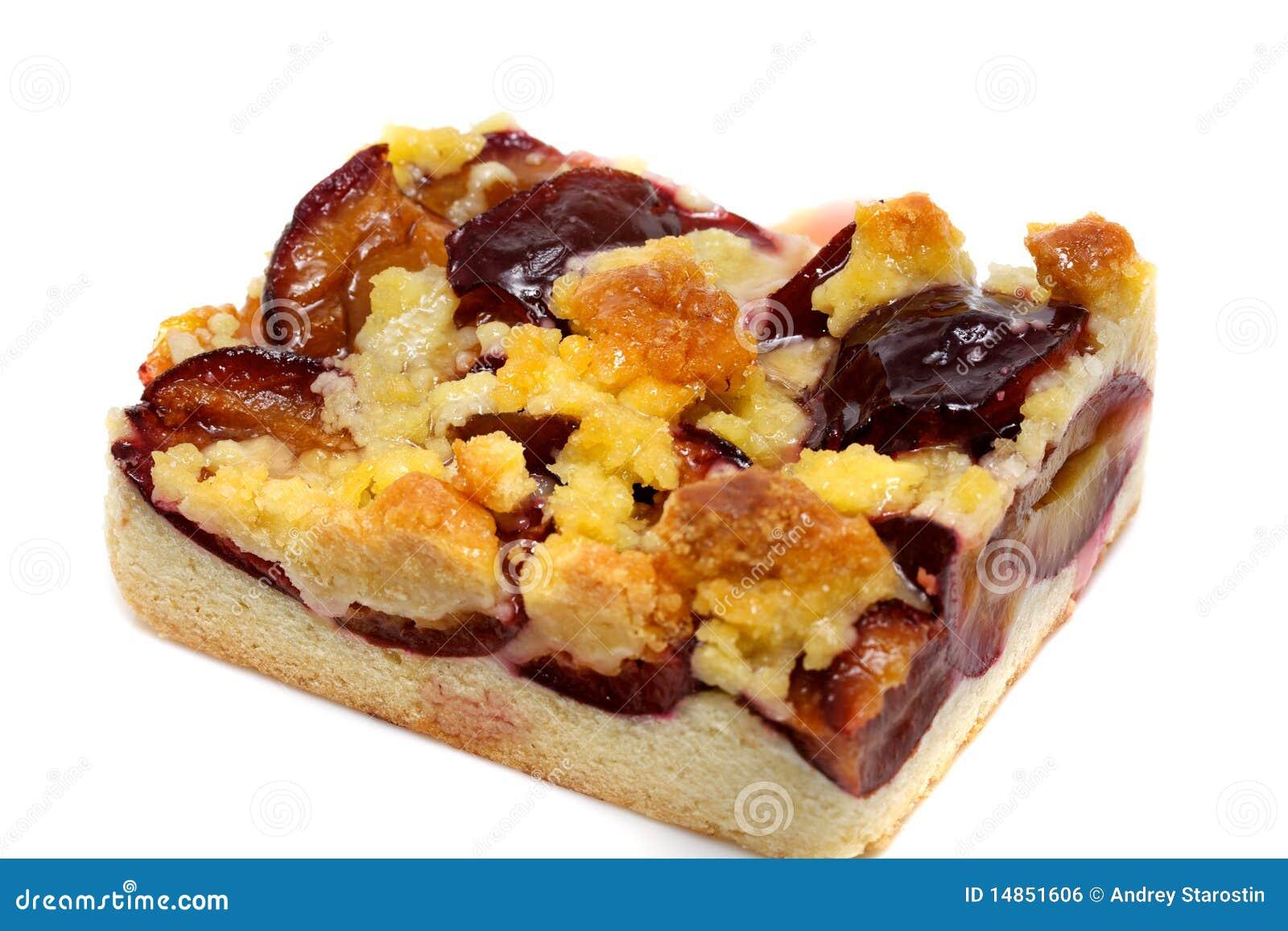 Fresh baked plum cake