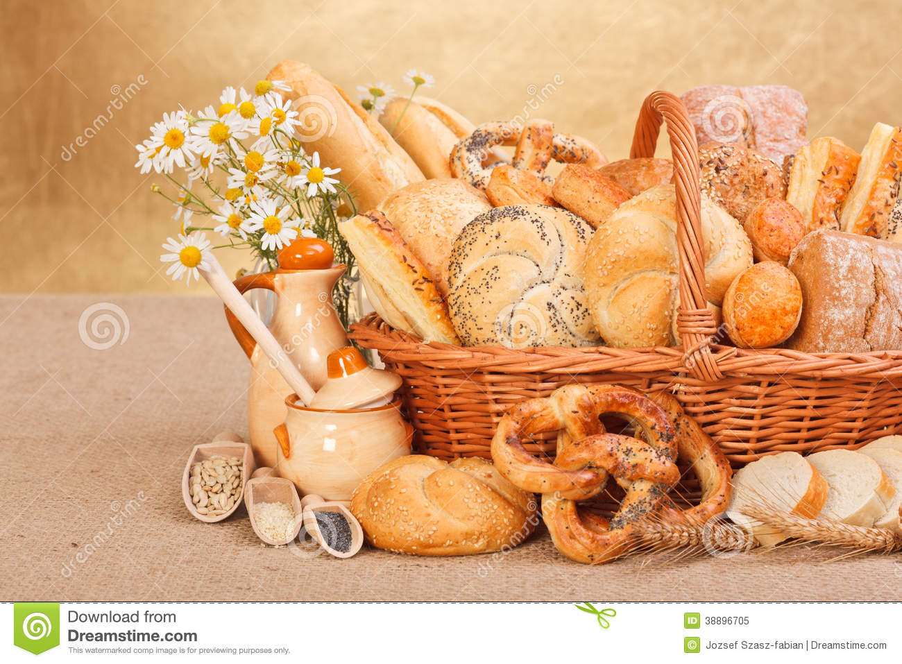 Fresh bakery products and ingredients stock image image for Bakery decoration