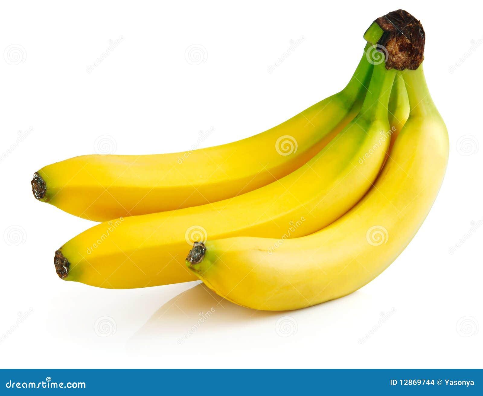 Fresh Banana Fruits Isolated Stock Photo - Image of white ...
