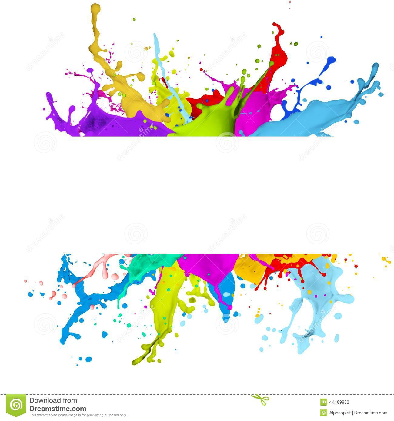 fresh banner with colorful splash effect stock photo image of