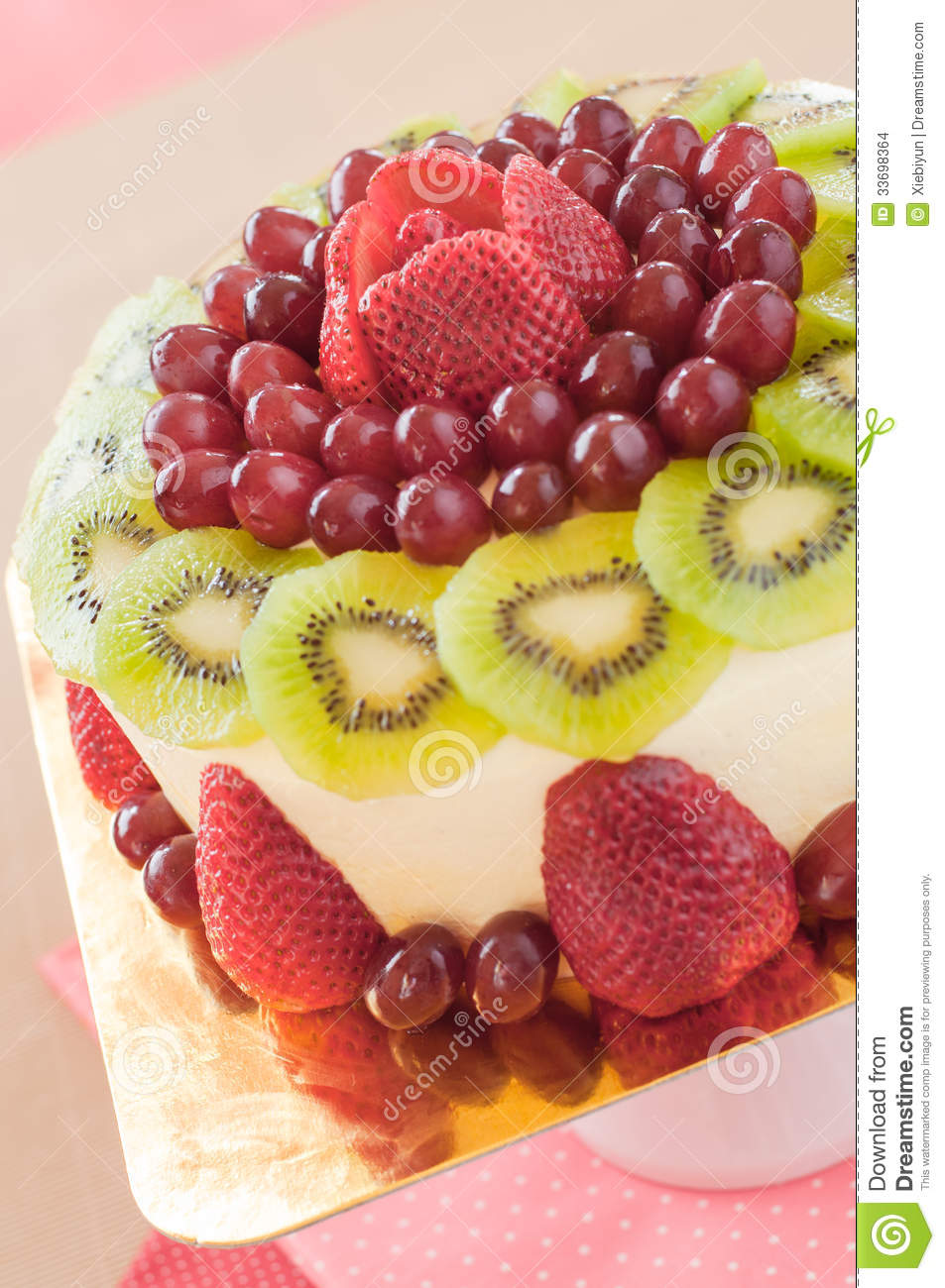 fruit cake decoration fresh berries fruit cake with stock images 4391