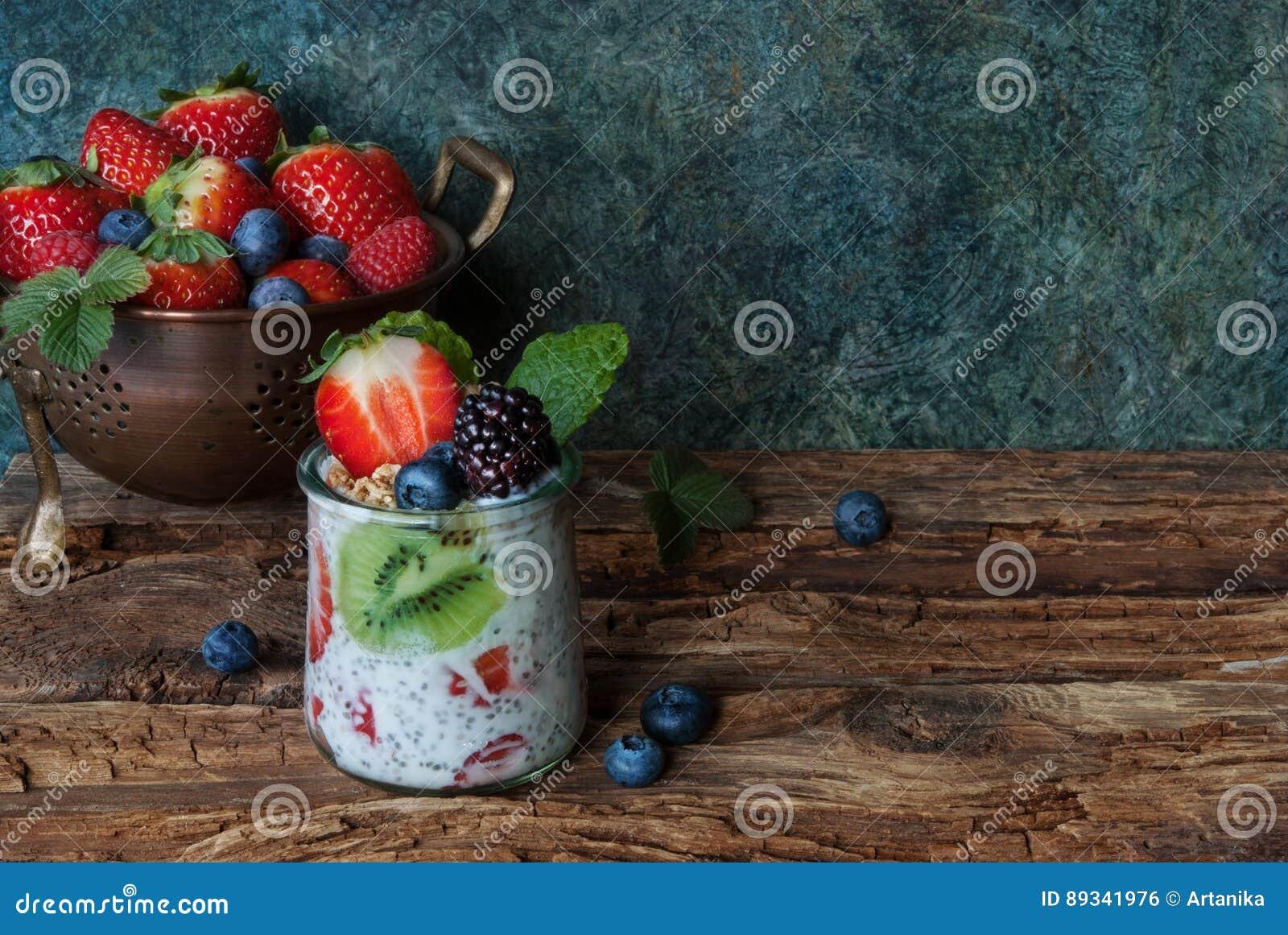 Fresh berries and yogurt