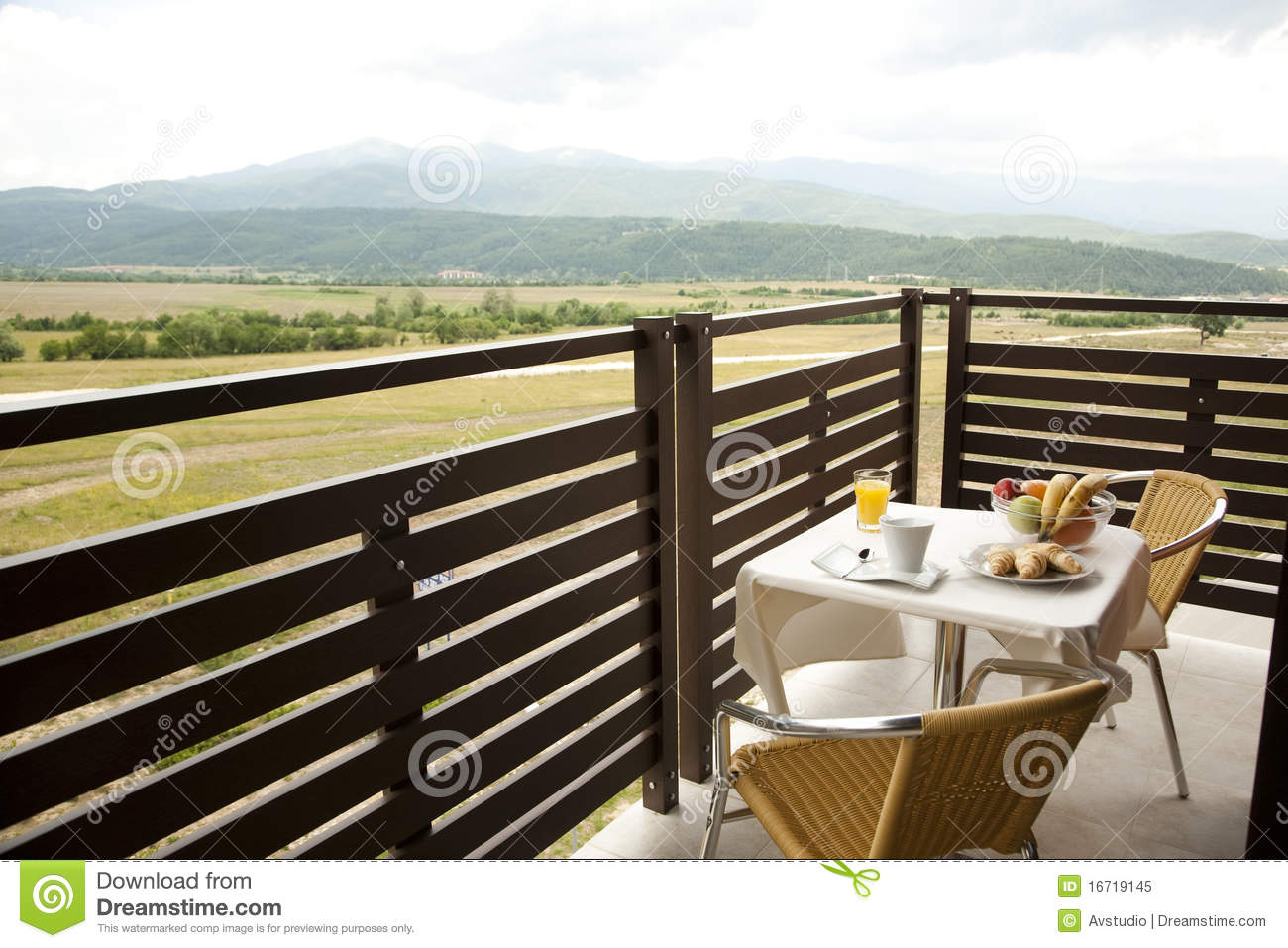 Fresh breakfast at the hotel terrace stock image image for Terrace hotel breakfast