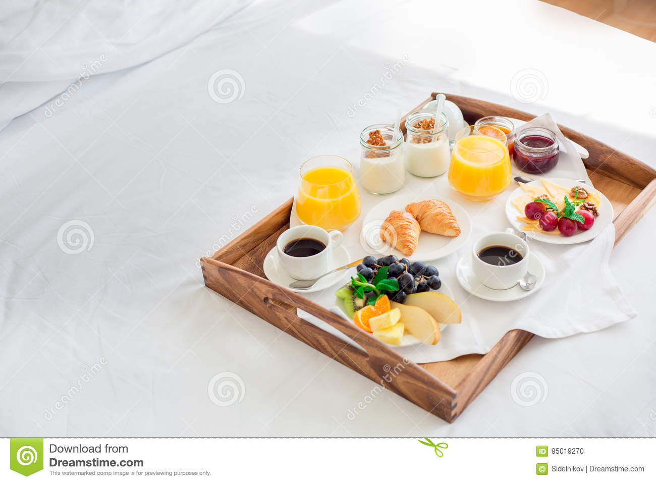 Fresh Breakfast Isolated No People Room Service Stock Photo Image Of Food Double 95019270
