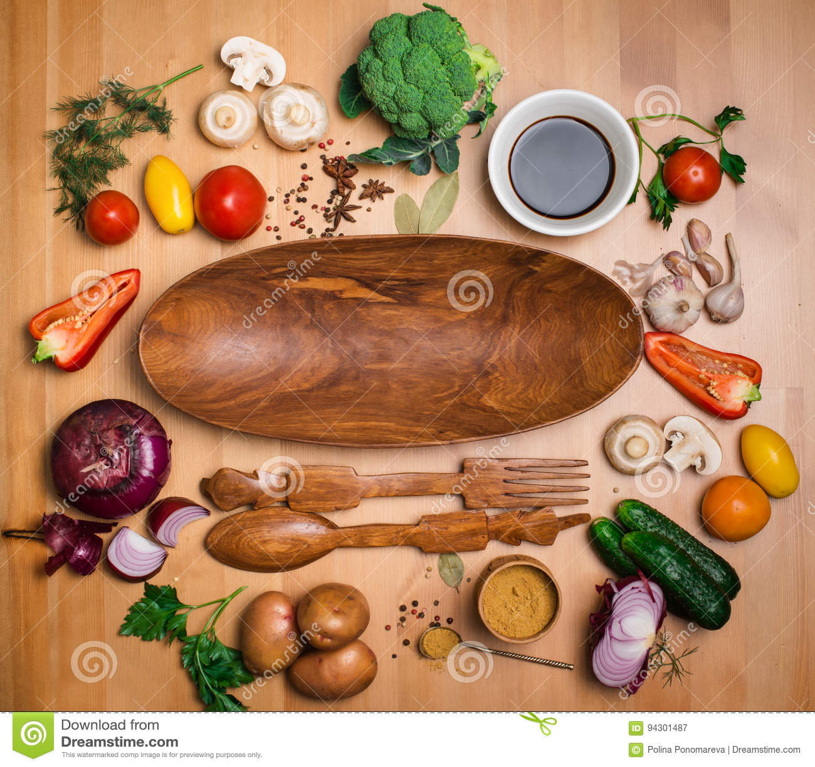 Fresh broccoli and vegetables ingredients for tasty vegetarian c