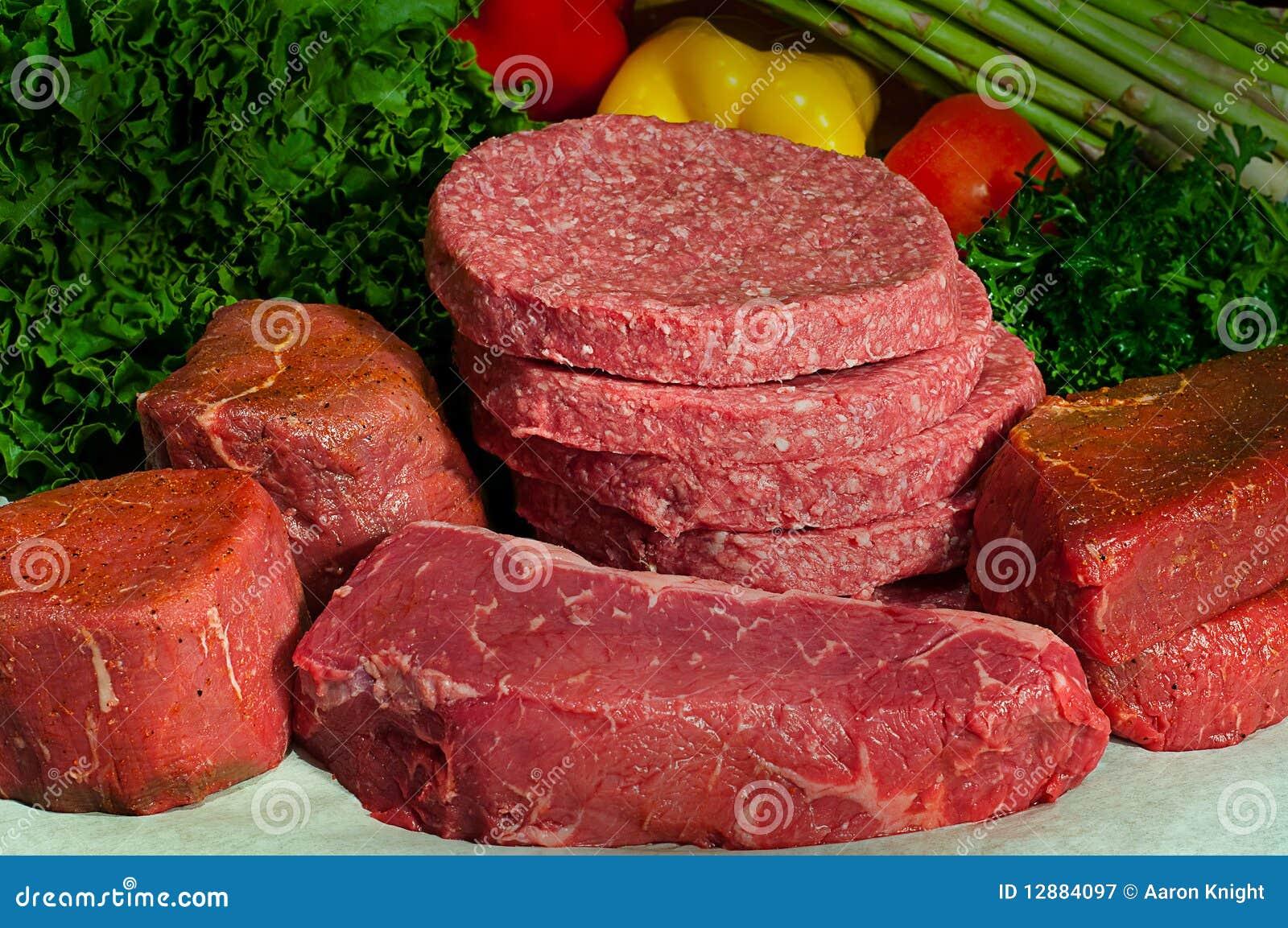Fresh Butcher Block Raw Beef for Steak House