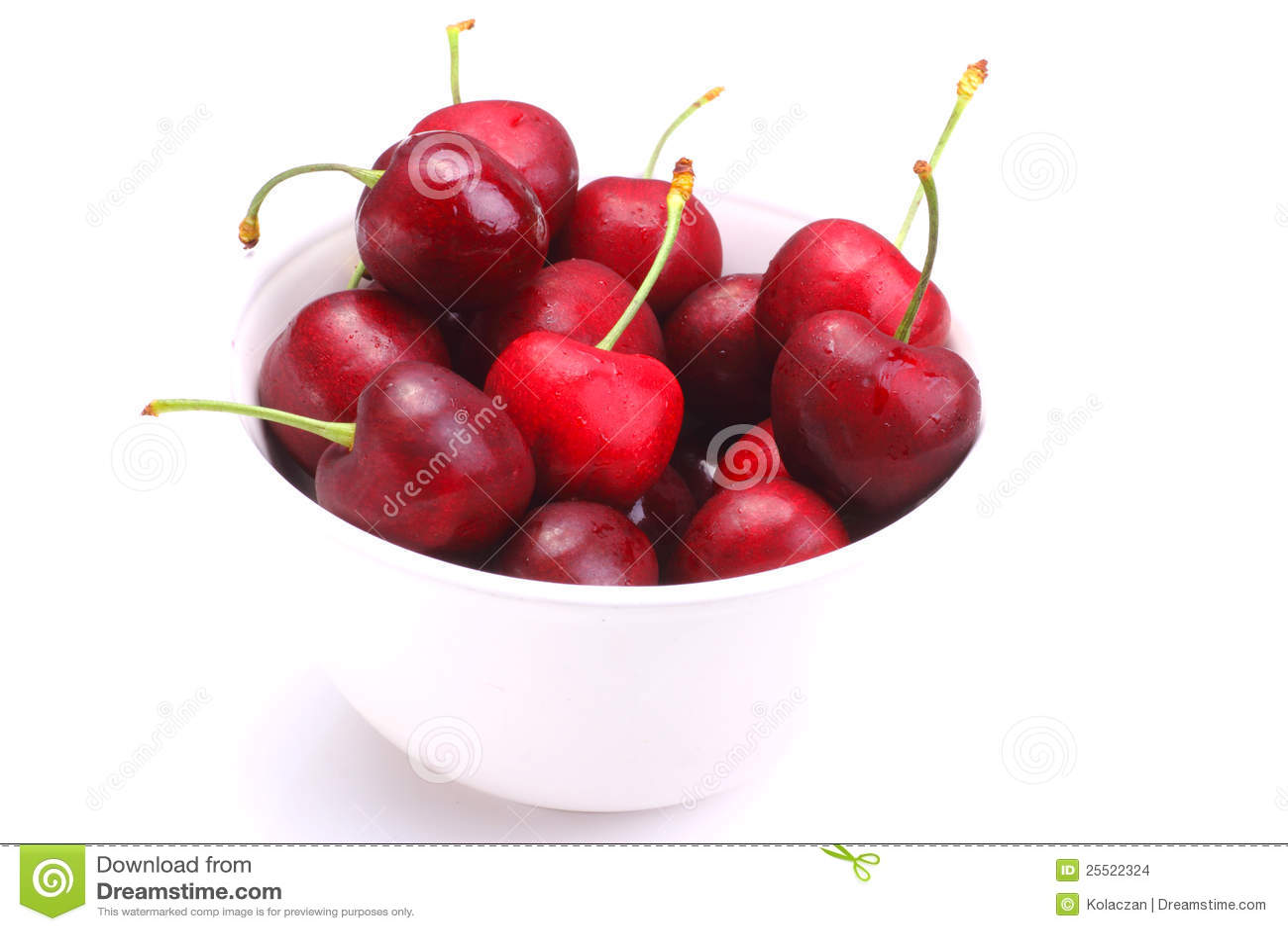 Fresh Cherries Stock Images - Image: 25522324