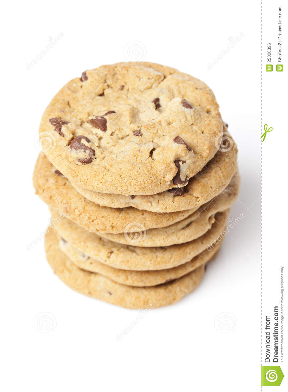 fresh chocolate chip cookies royalty free stock image