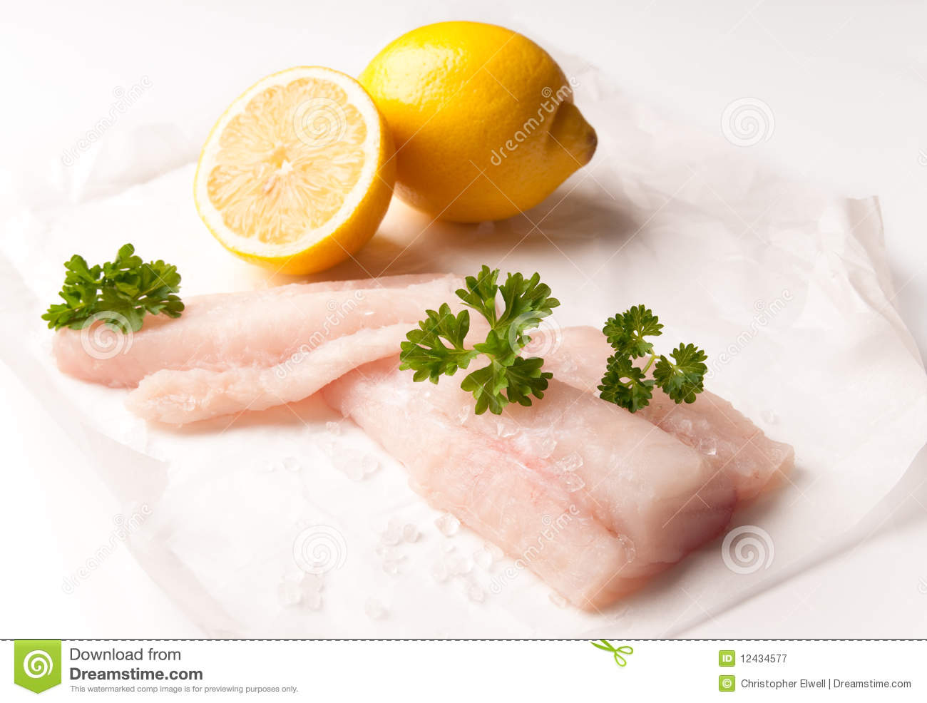 Fresh cod fillets royalty free stock photography image for Cod fish protein