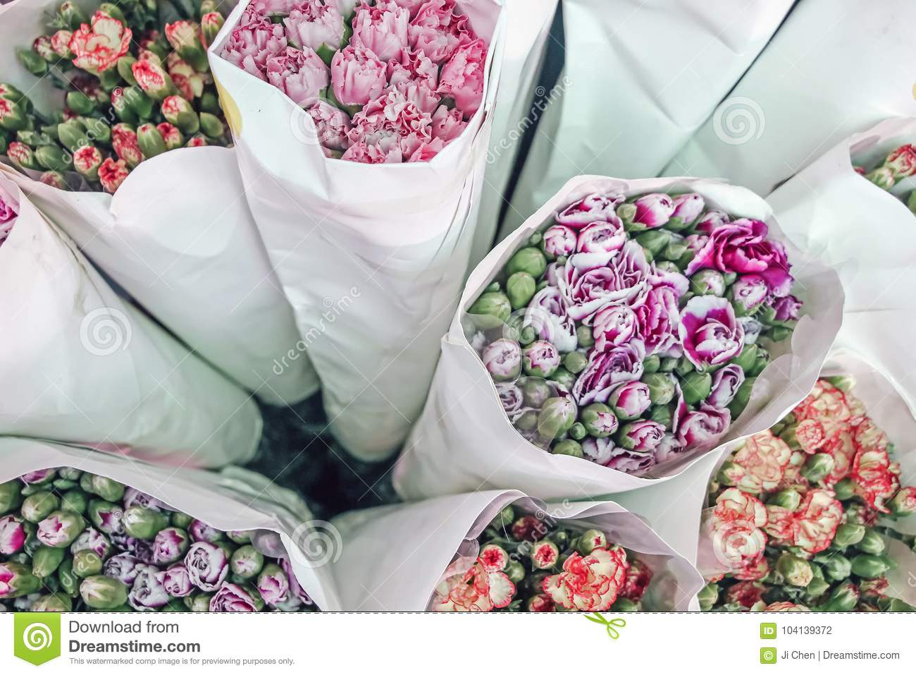 Fresh colorful flowers wrapped in paper stock photo image of download fresh colorful flowers wrapped in paper stock photo image of leaves pretty mightylinksfo