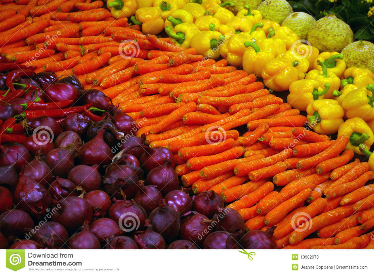 Fresh colorful vegetables.