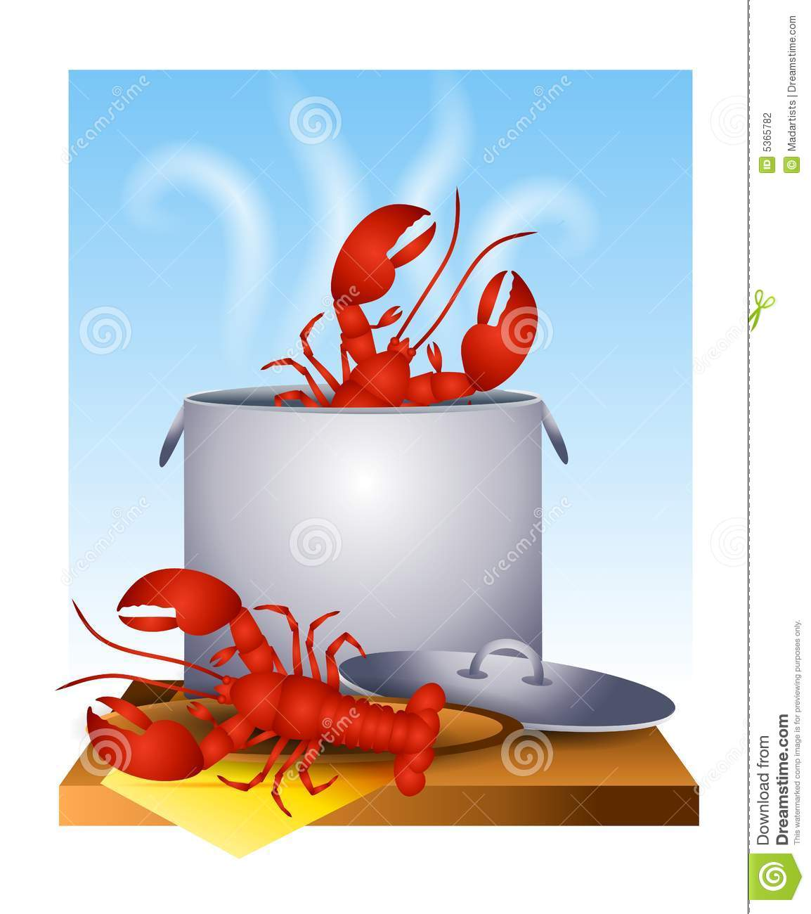 Fresh Cooked Lobster In The Pot Stock Photography - Image: 5365782