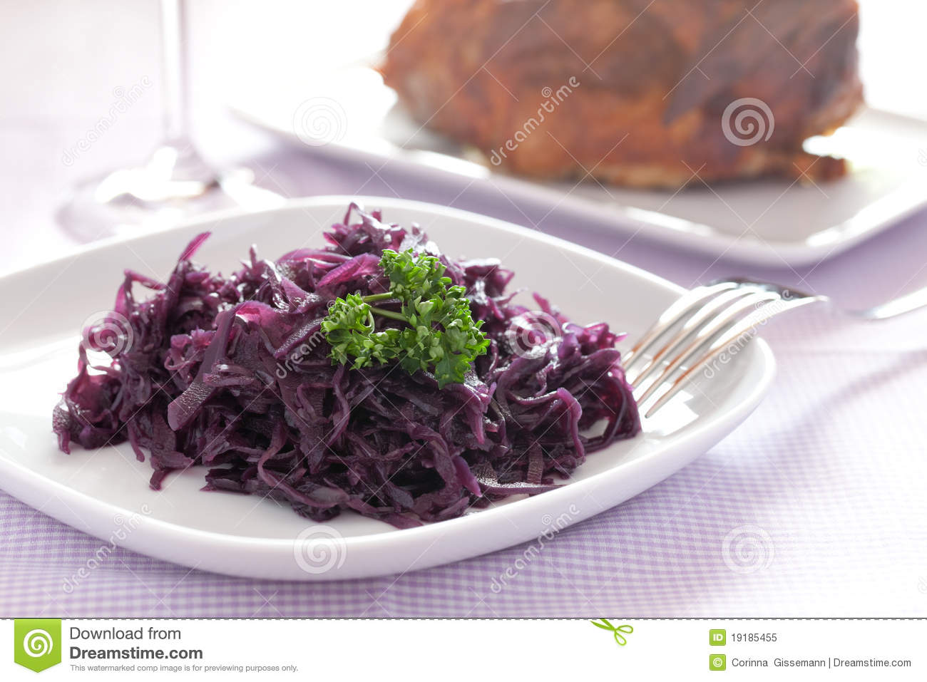Fresh Cooked Red Cabbage Royalty Free Stock Photo - Image ...