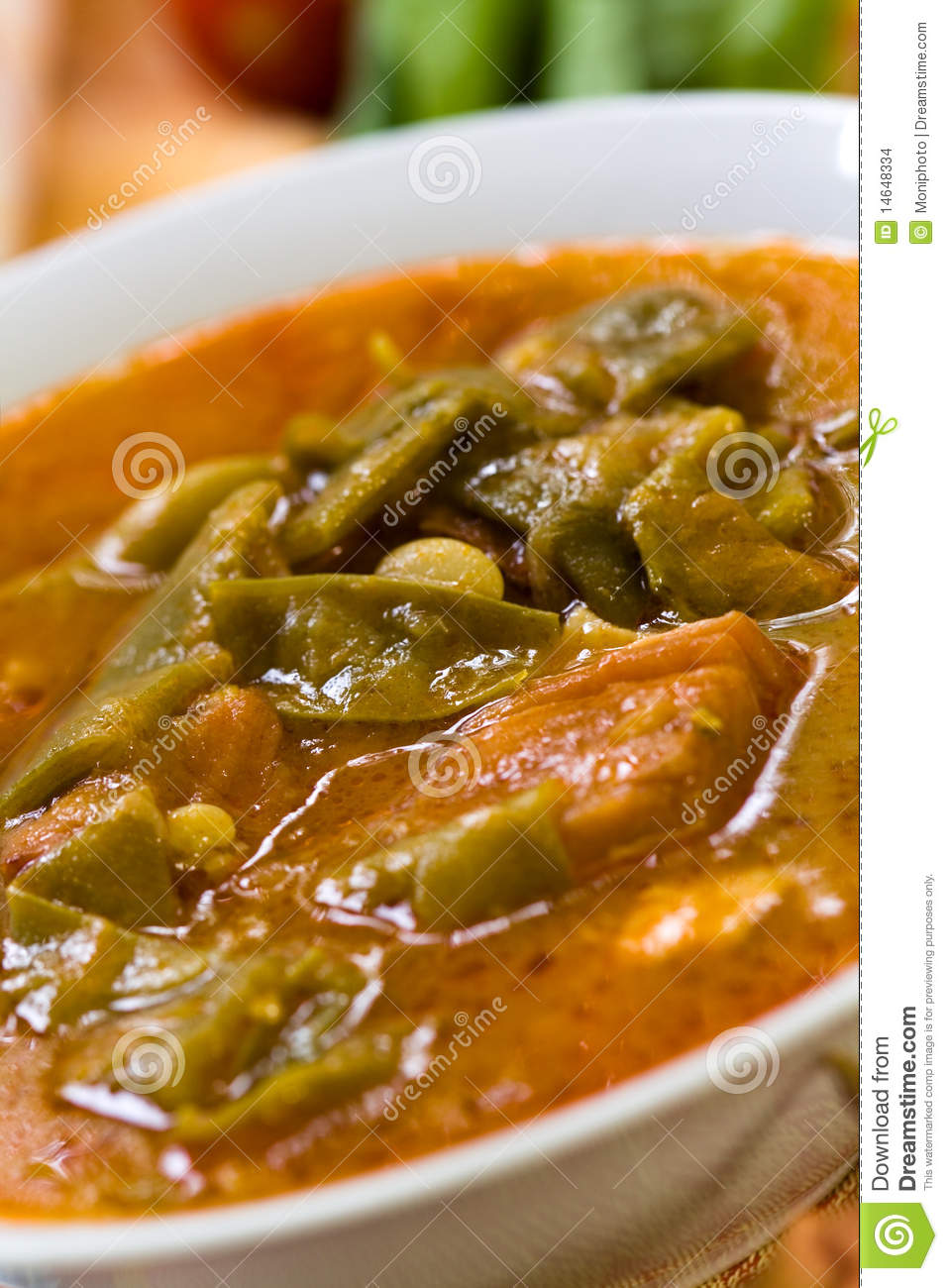 Fresh Cooked Stew With Green Beans And Roast Ham,b Stock Images ...