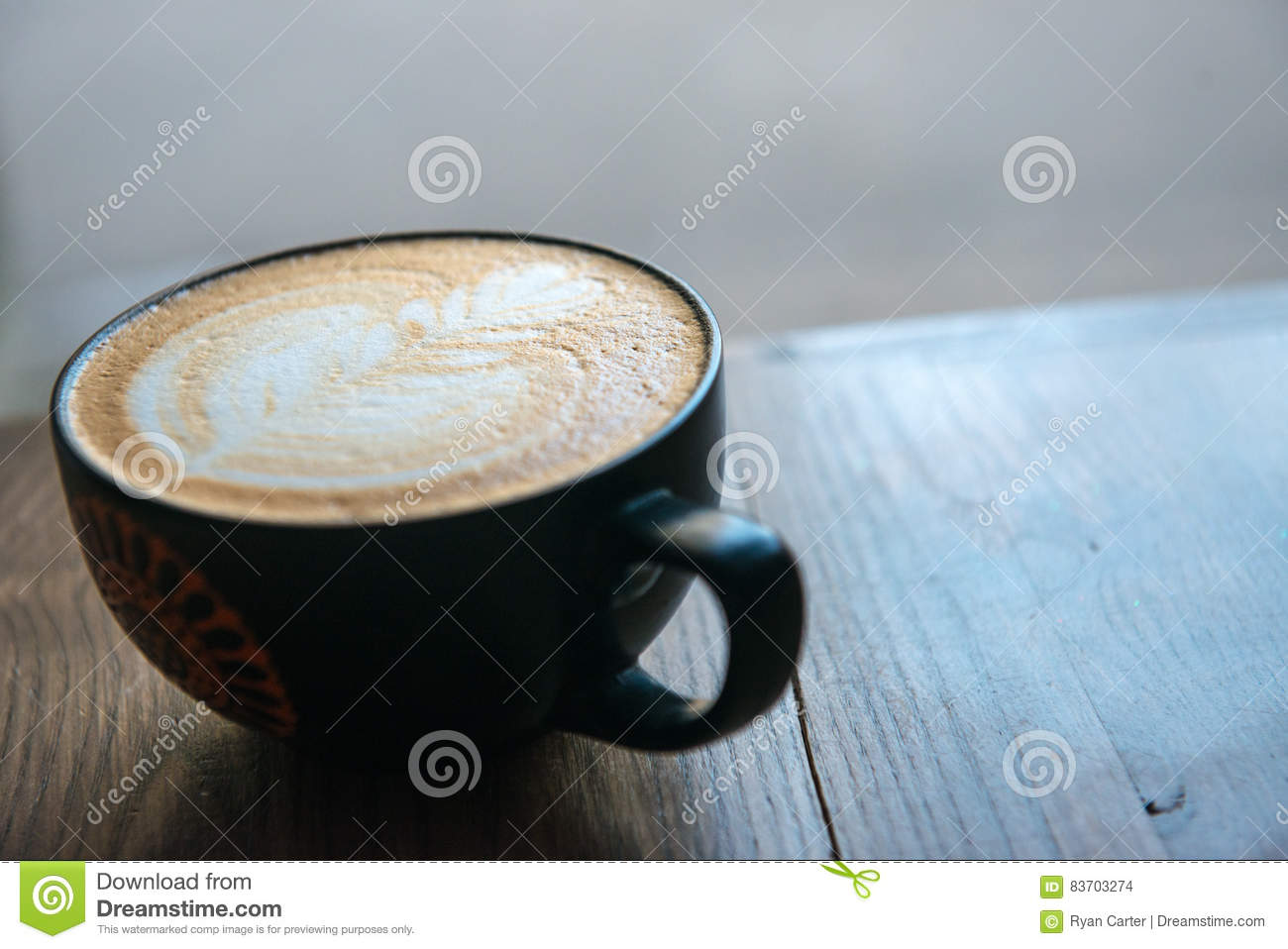 Fresh Cup Of Hot Coffee Stock Photo
