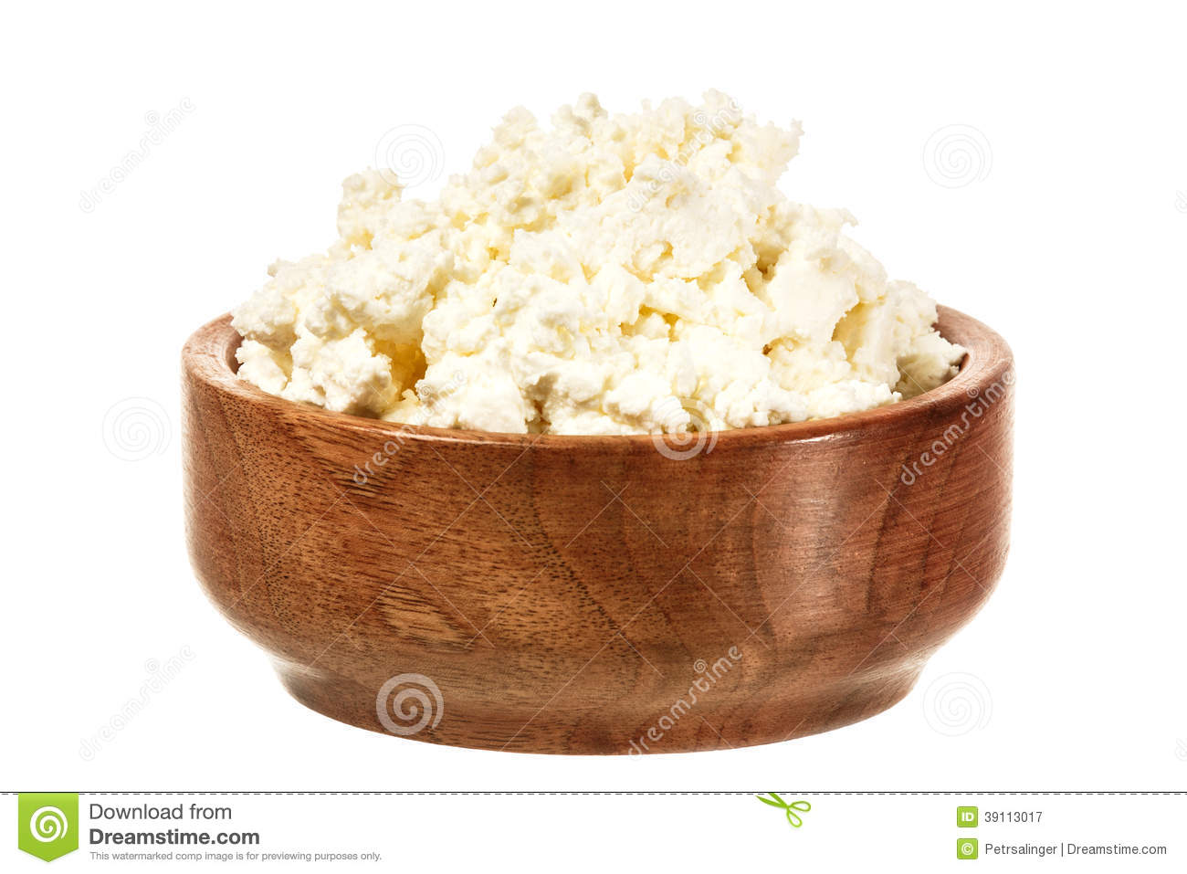 Fresh curd cheese in the bowl