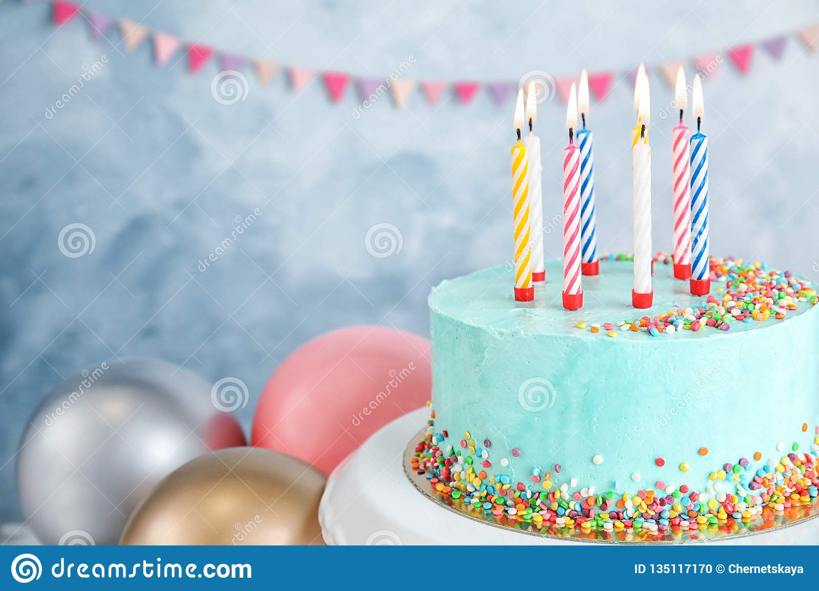 Birthday Cake Candles Stock Images