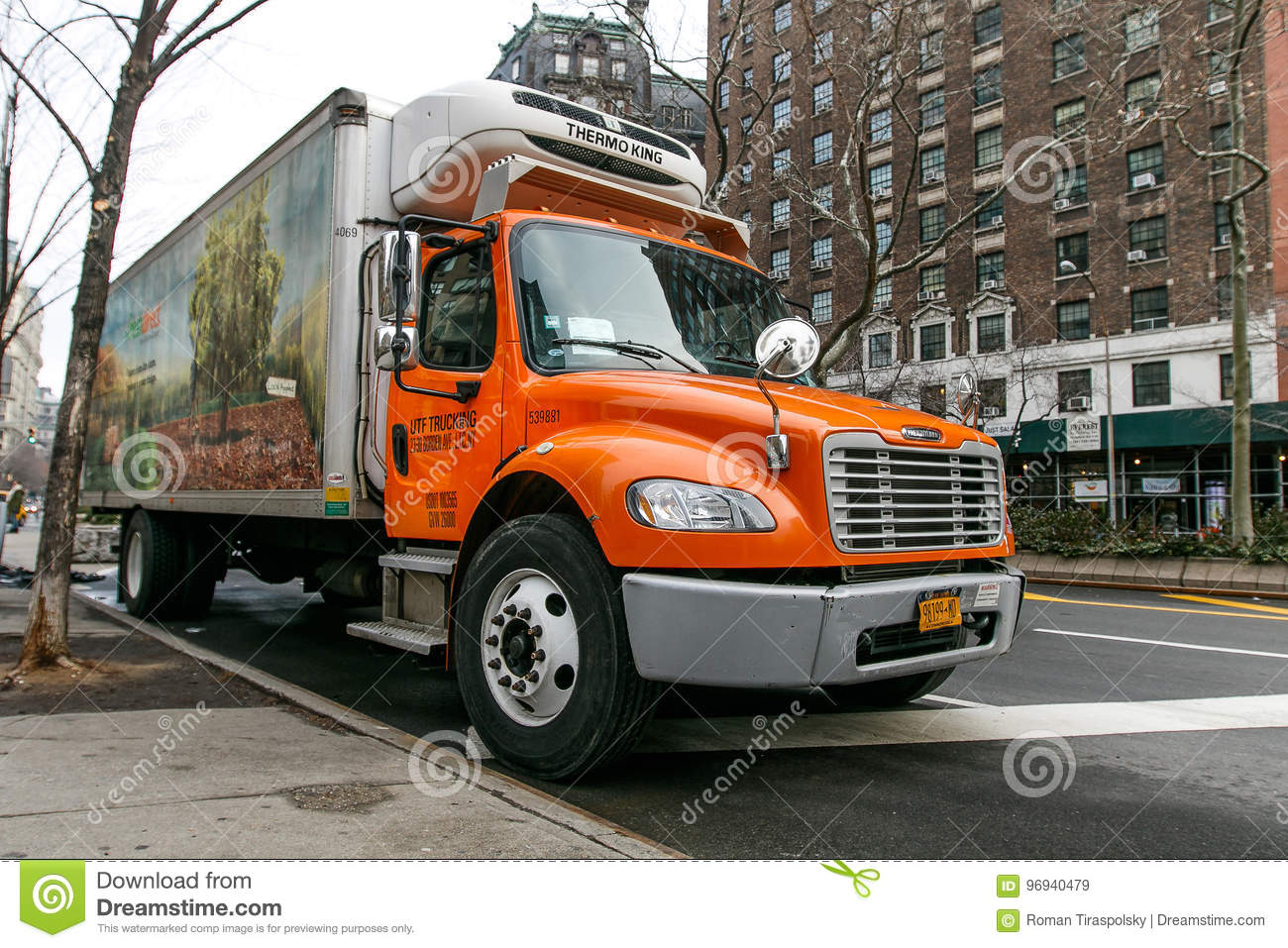 Fresh Direct food delivery truck