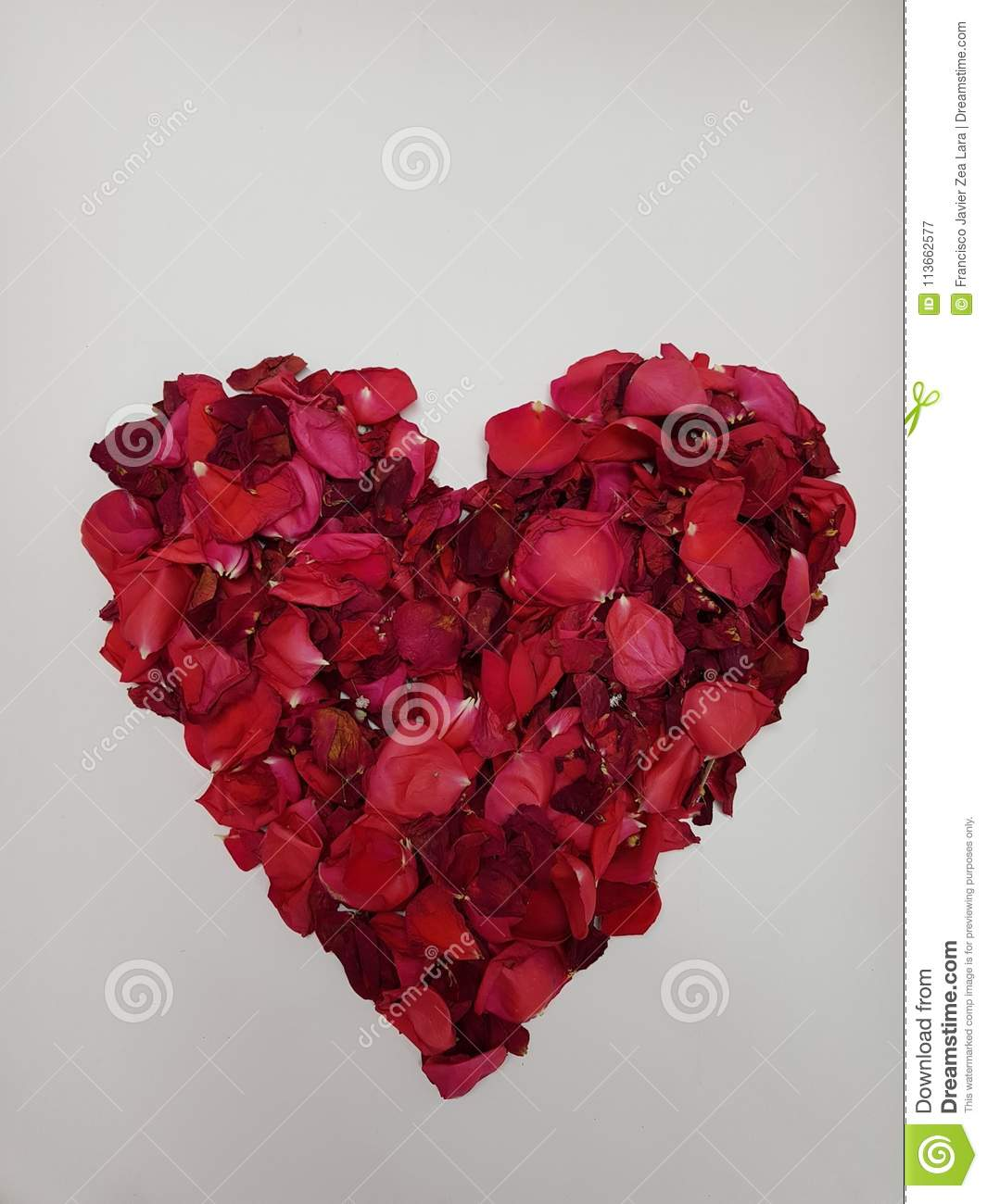 Heart Formed With Red Rose Petals Stock Image