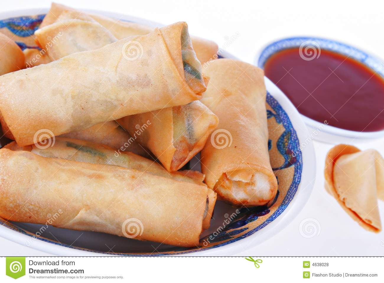 Fresh Egg-rolls Traditional Chinese Food Royalty Free Stock Photos ...