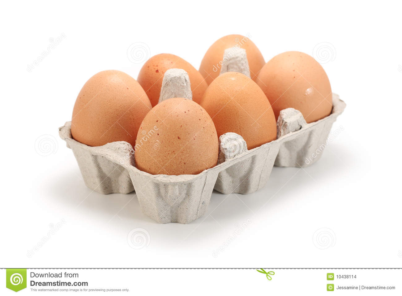 Fresh Eggs In Pack Stock Photo Image Of Pack Food Cholesterol 10438114