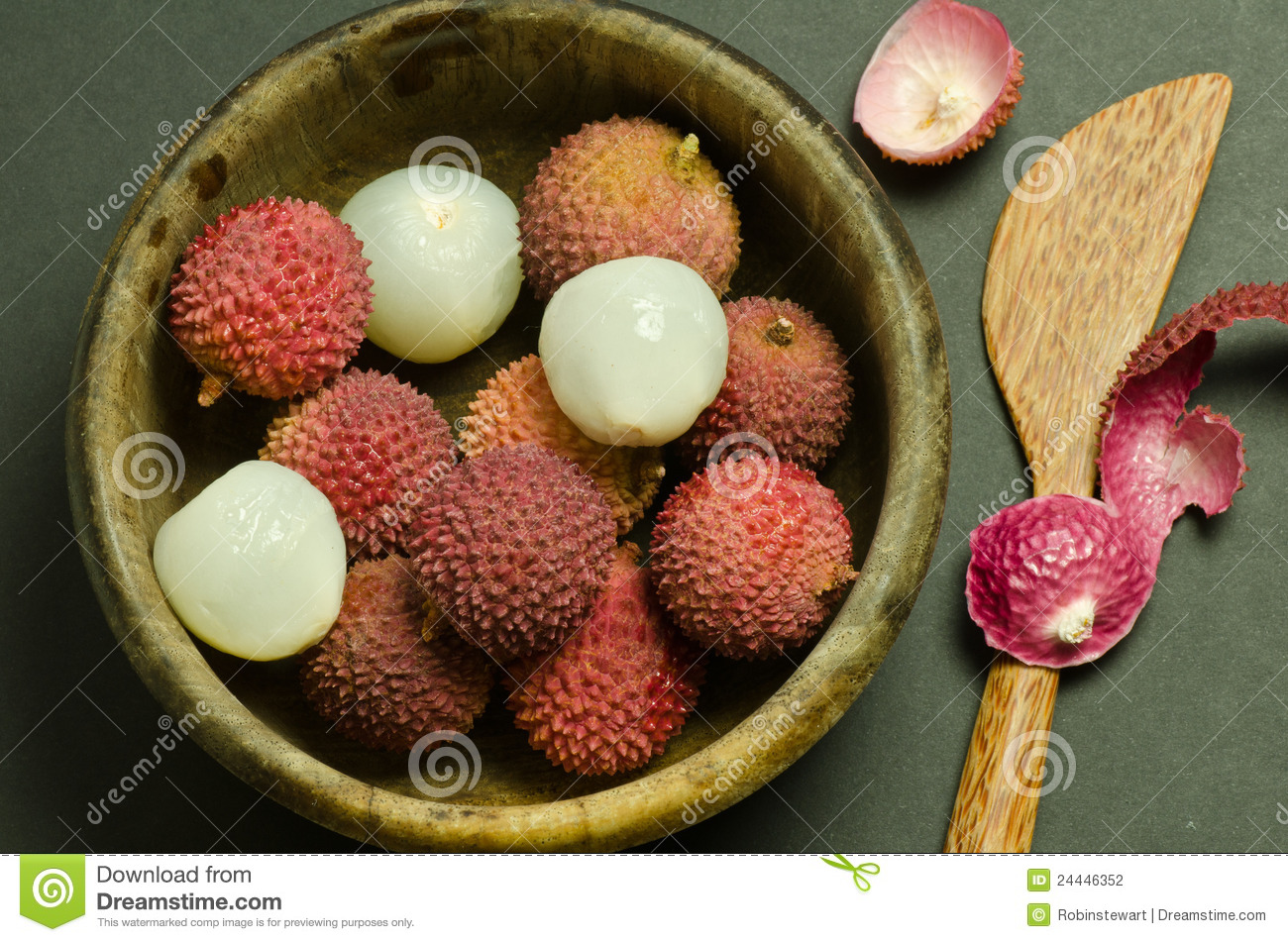 Fresh Exotic Chinese Lychee Fruit Stock Photography - Image: 24446352