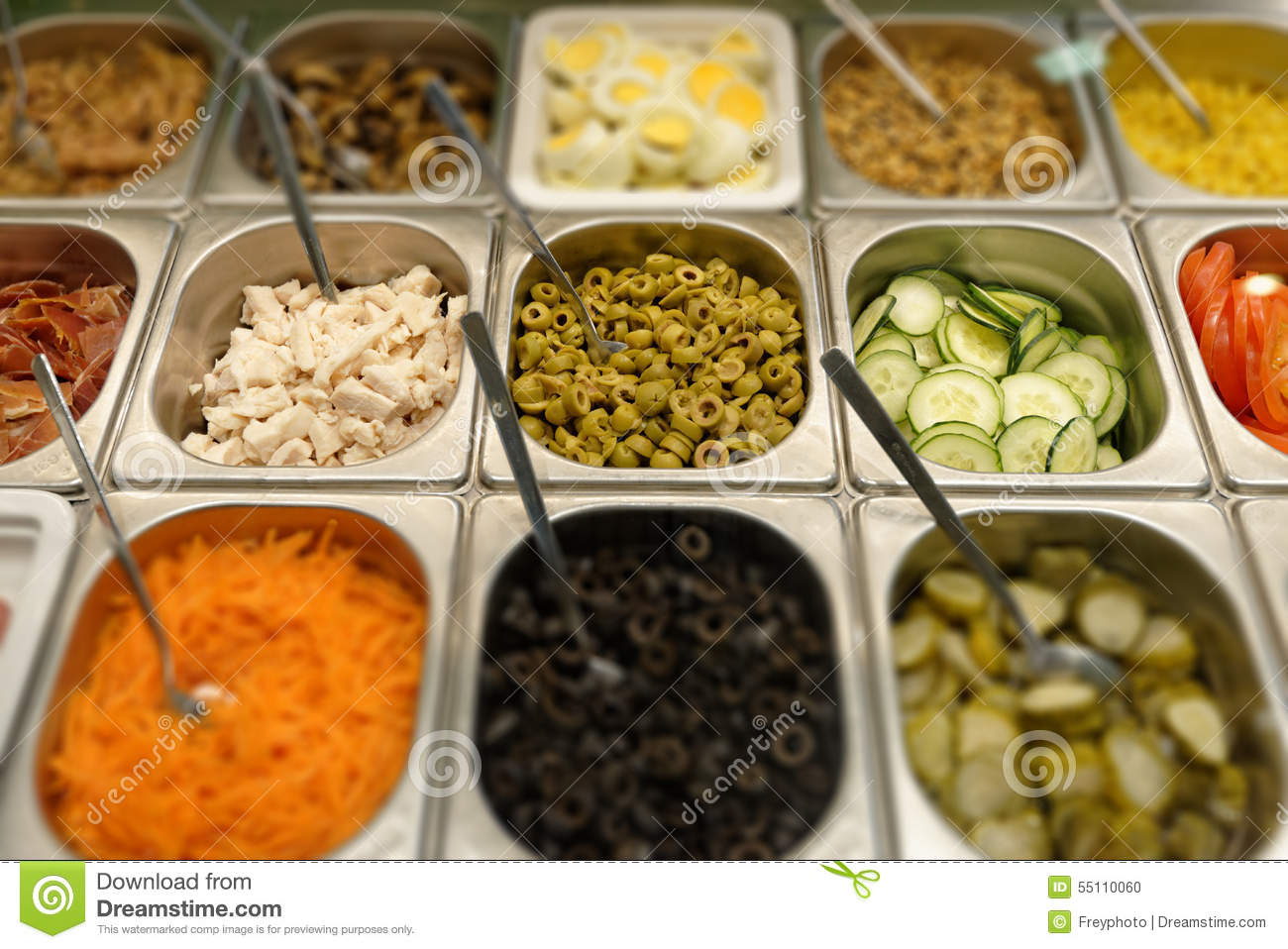 Fresh fast food in a self service restaurant stock photo for Cuisine quick