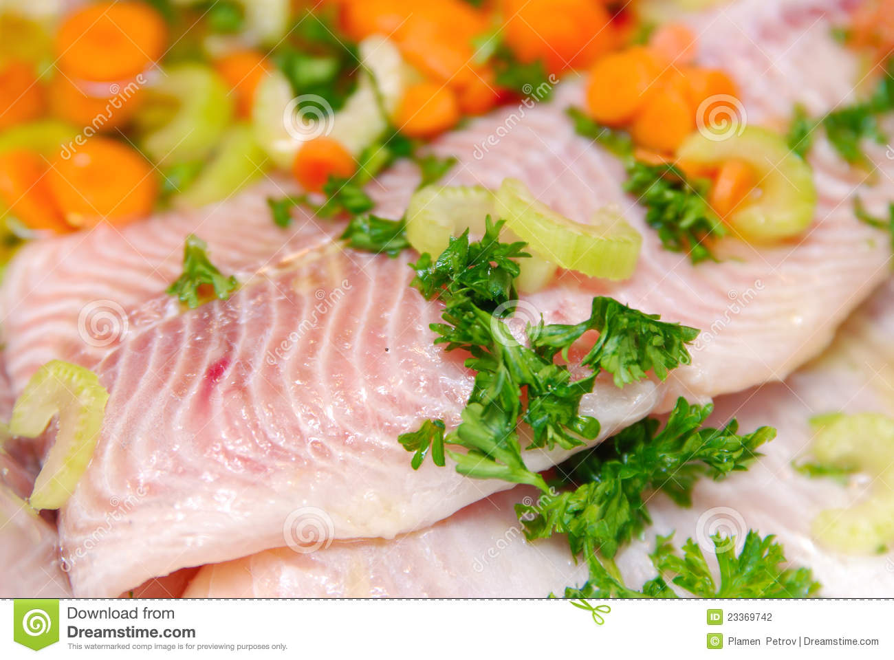 Fresh fillets of fish stock photography image 23369742 for Fresh fish recipes
