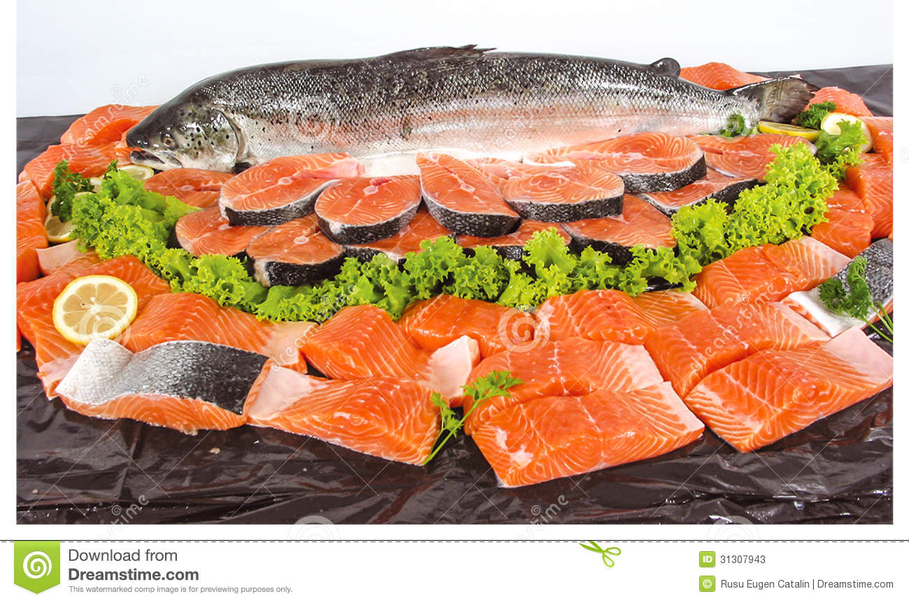 Fresh fish and cut pieces stock image image of whole for Piece of fish